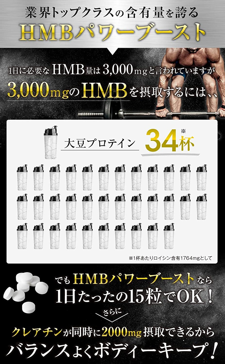 BULKEY(バルキー) HMBCa&クレアチン POWER BOOSTの商品画像5
