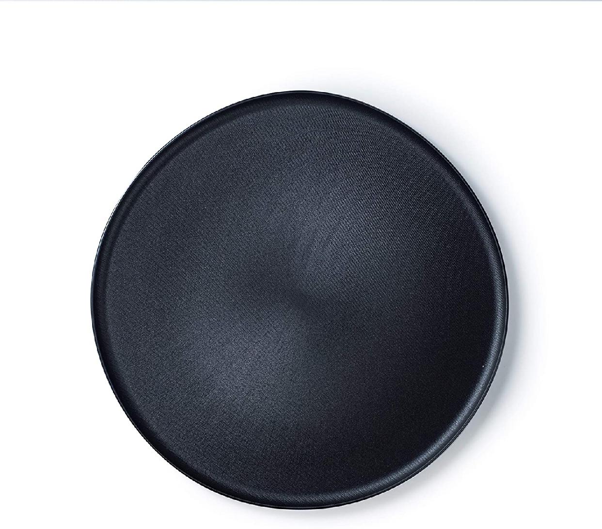 ARAS(エイラス)大皿モアレ ブラック A_06BKの商品画像