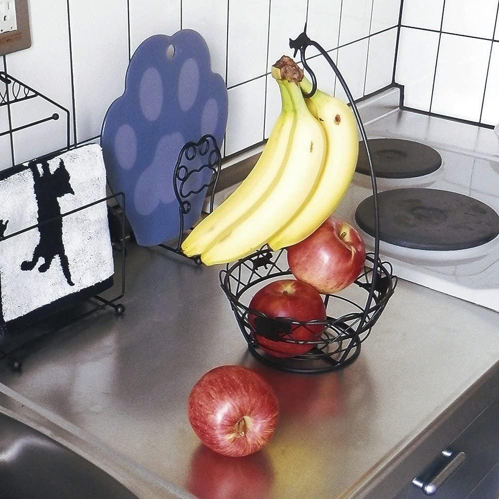 Abeille(あべいゆ)バナナスタンド ネコ ブラック AAIS-855の商品画像2
