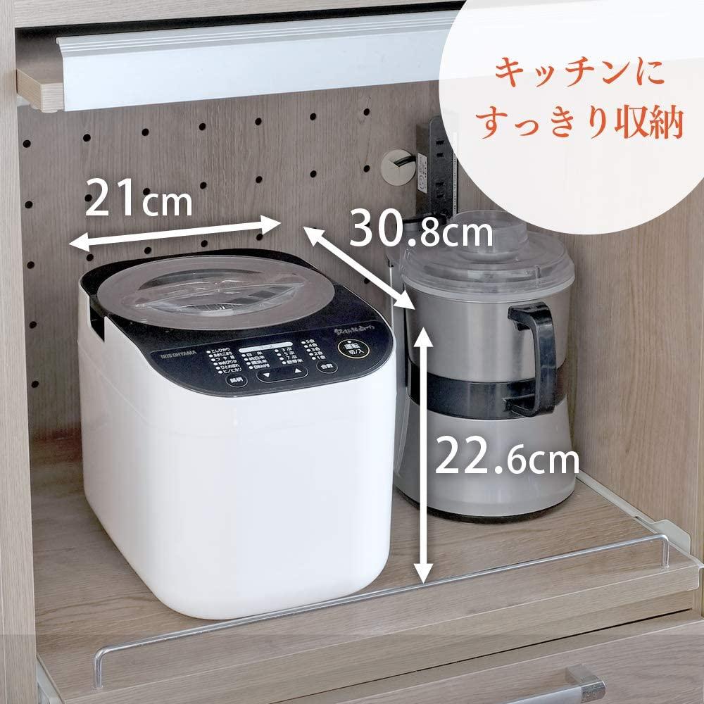 アイリスオーヤマ米屋の旨み 銘柄純白づき 精米機 RCI-B5-W ホワイトの商品画像7