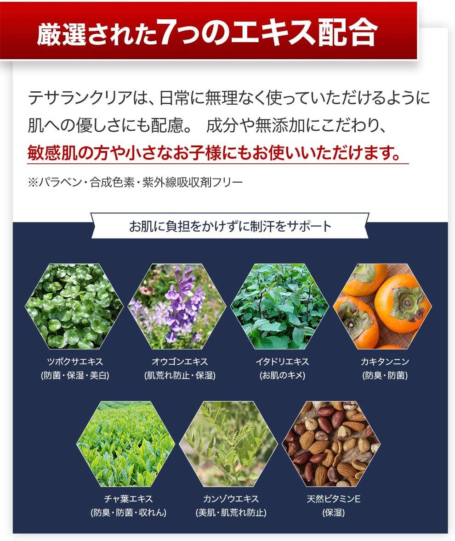 TESARAN CLEAR(テサランクリア) ワキガ専用デオドラントクリームの商品画像6