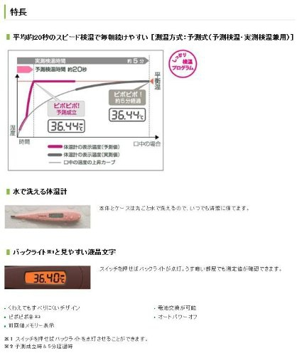 TERUMO(テルモ)WOMAN℃ 女性体温計 ET-C531の商品画像2