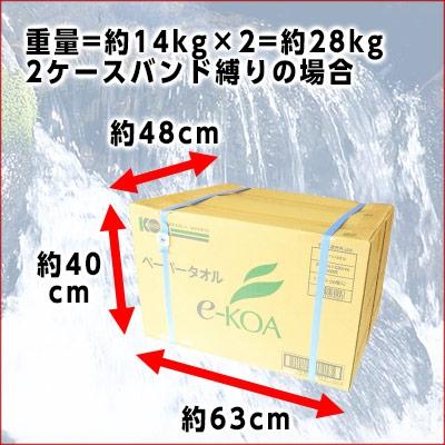 e-KOA(エコア) ペーパータオル 200枚 60パック(30パック×2ケース)の商品画像9