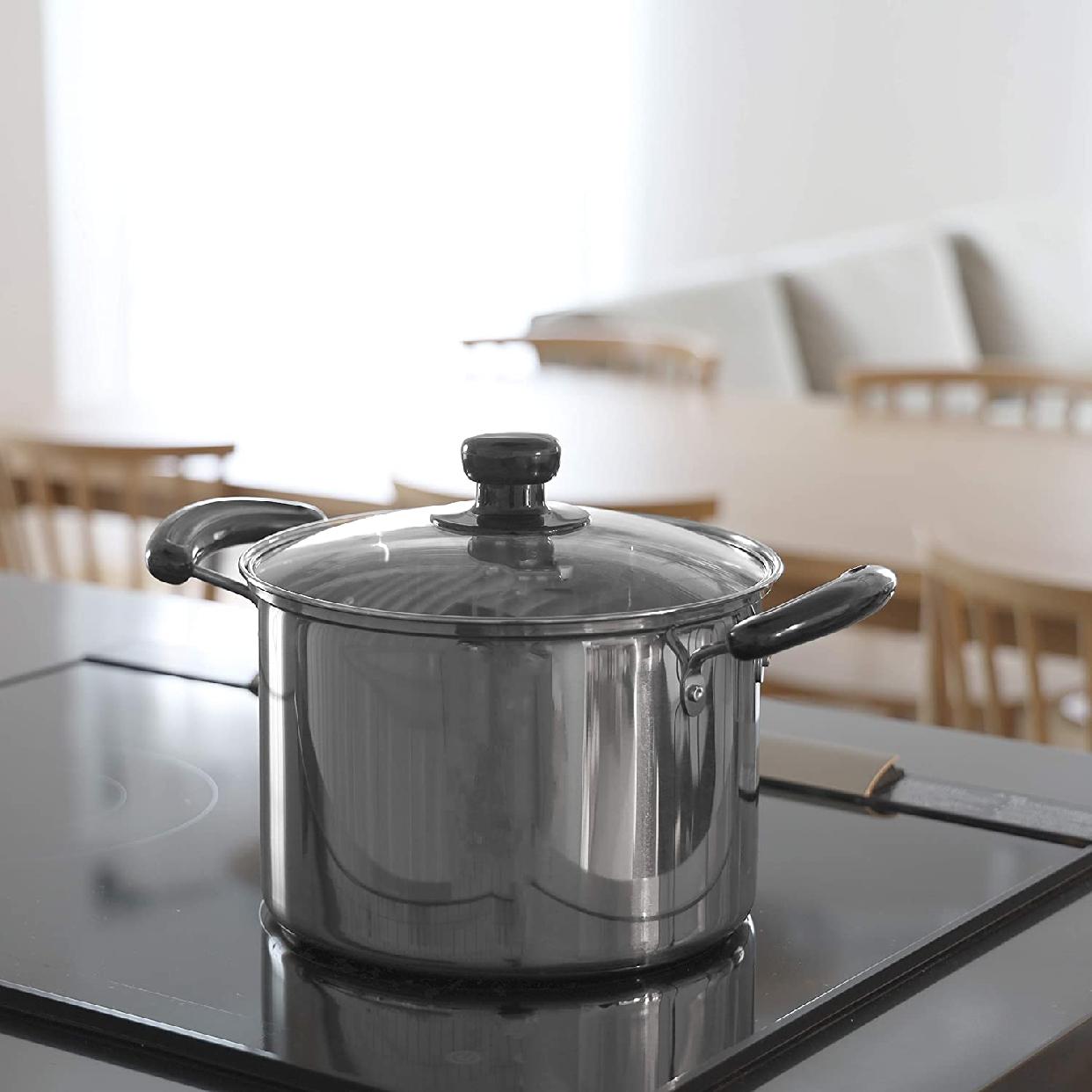パール金属(パールキンゾク)NEWだんらん ステンレス製ガラス蓋付兼用鍋 H-5872の商品画像4