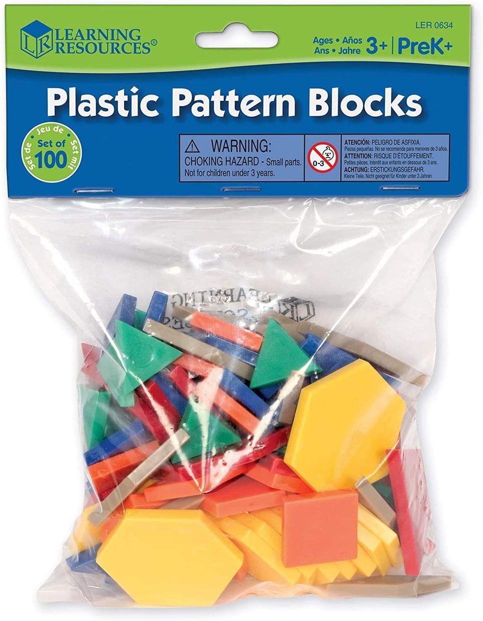 Learning Resources(ラーニングリソーシズ) パターンブロック ミニセットの商品画像
