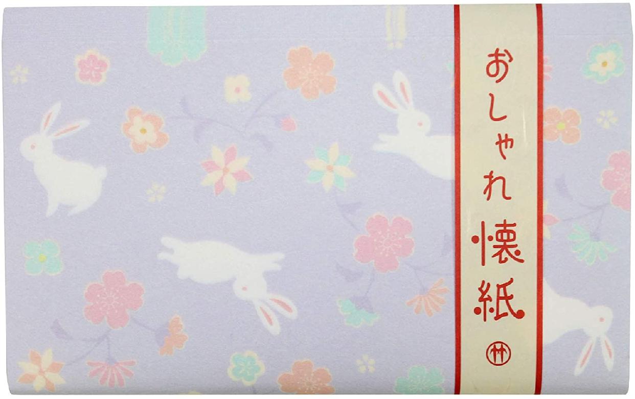 クロチク おしゃれ懐紙 花兎 紫の商品画像