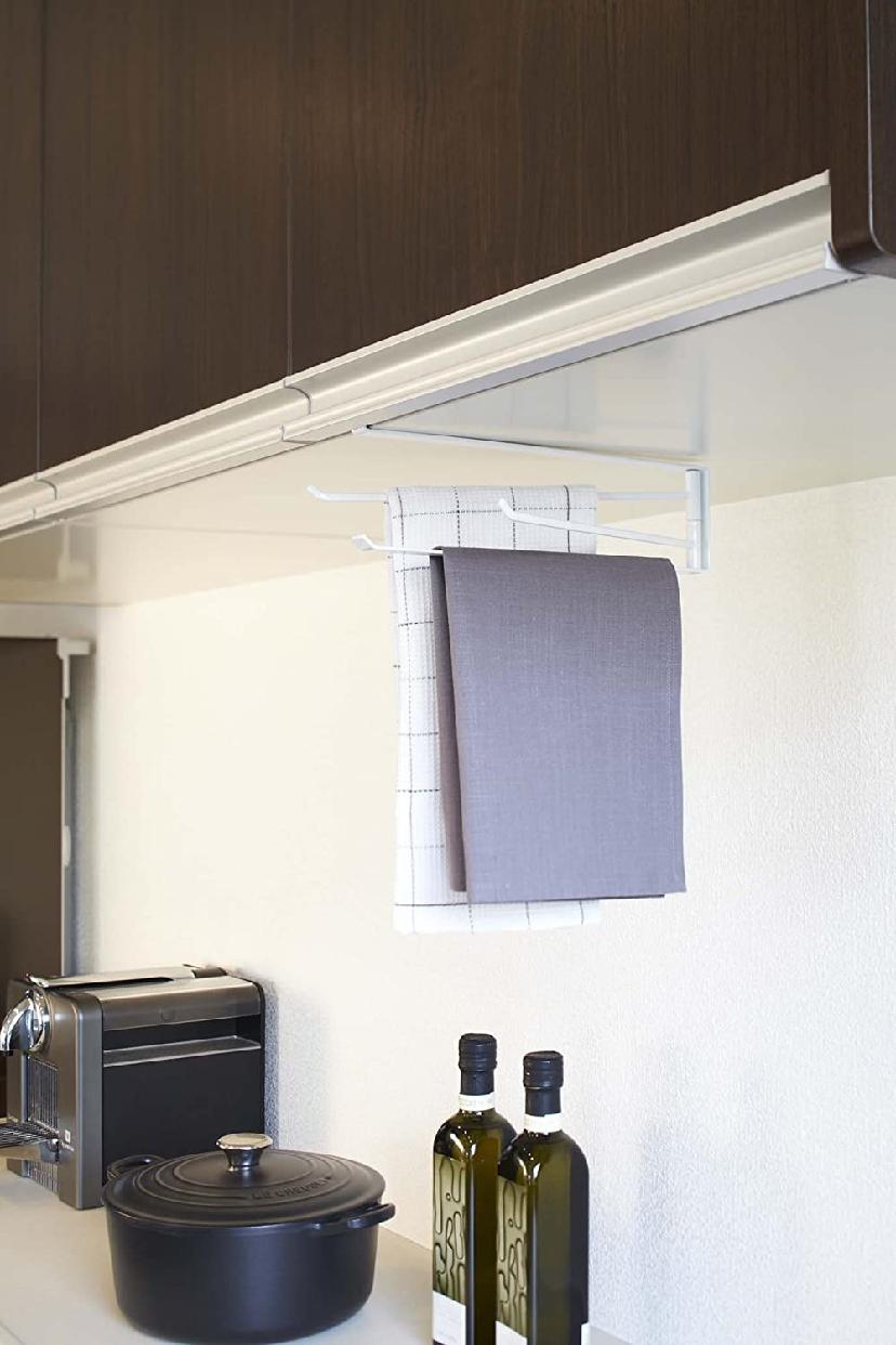山崎実業(ヤマザキジツギョウ)戸棚下布巾ハンガー タワーの商品画像2