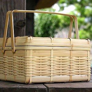 竹虎(タケトラ)ピクニックバスケット(大) クリーム sa00085の商品画像