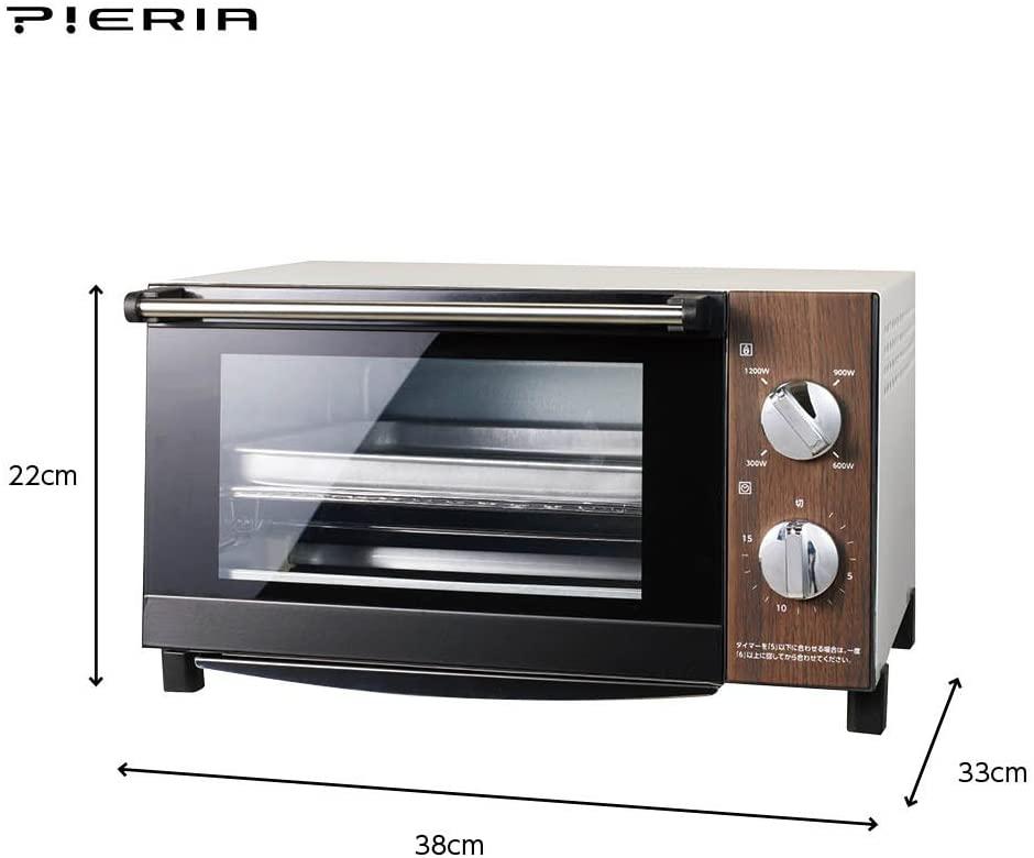 PIERA(ピエリア)ビッグオーブントースター DOT-1402の商品画像6