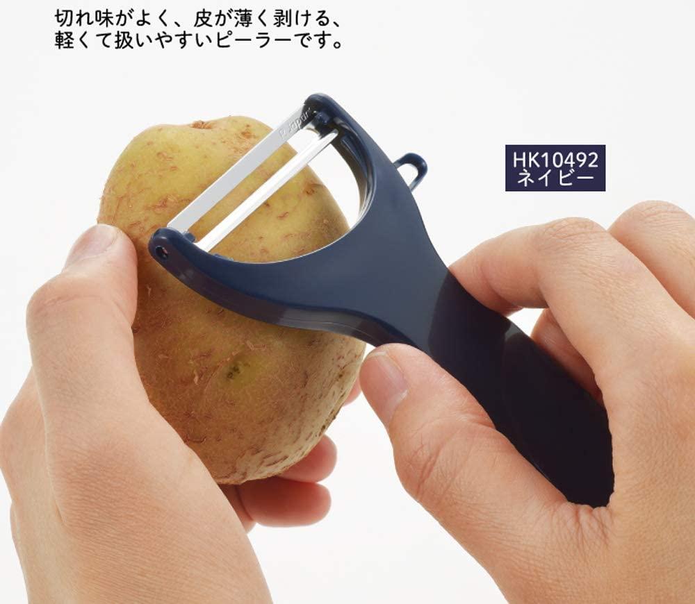 YOSHIKAWA(ヨシカワ) ホワイト メジャー付 ピーラーの商品画像3