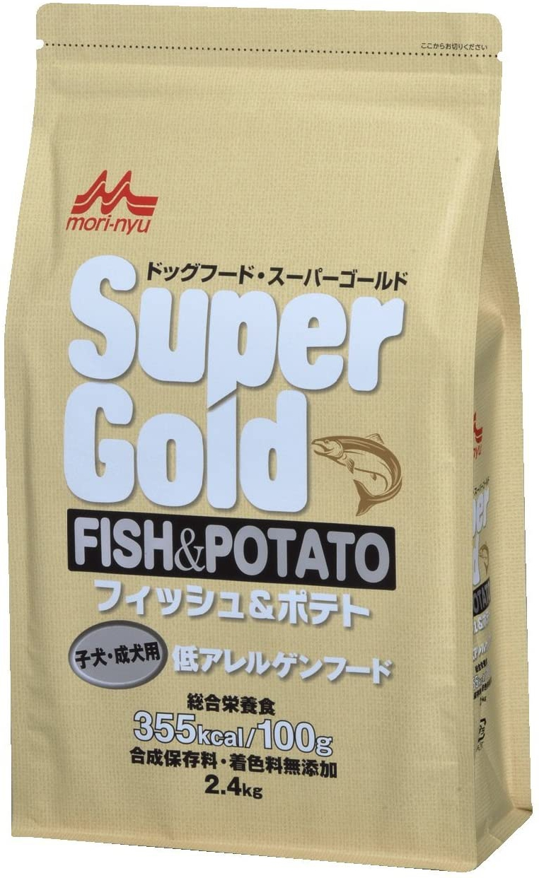 SUPER GOLD(スーパーゴールド) フィッシュアンドポテト 子犬成犬 2.4kgの商品画像