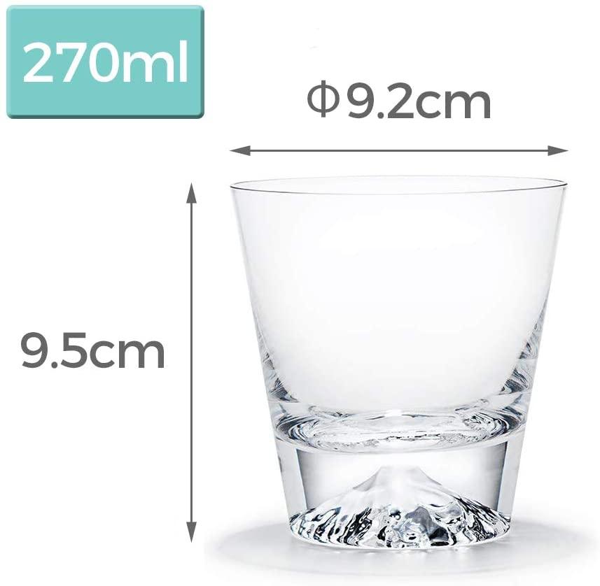 江戸硝子(エドガラス) 富士山グラス ロックグラス 270ml  TG15-015-Rの商品画像6