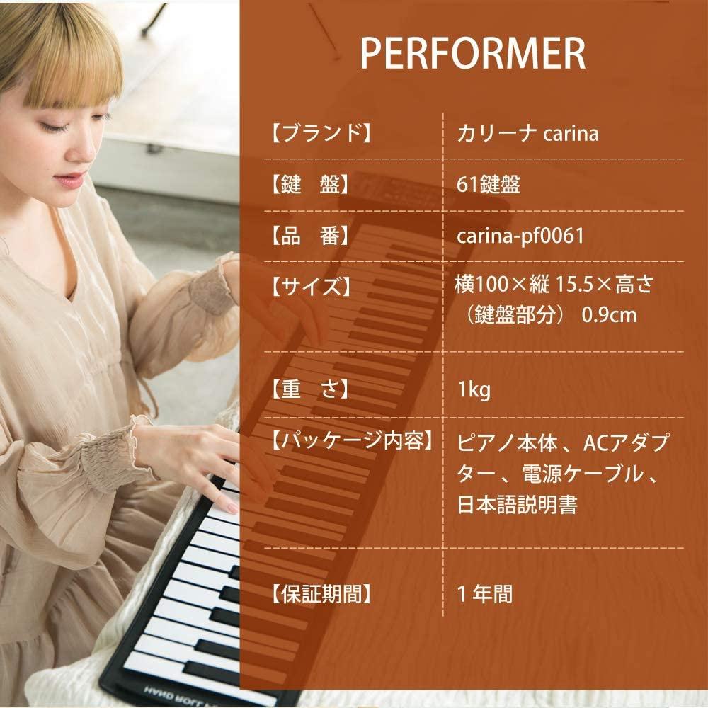 CARINA(カリーナ) ロールアップキーボードピアノ 61鍵 AF0061の商品画像4