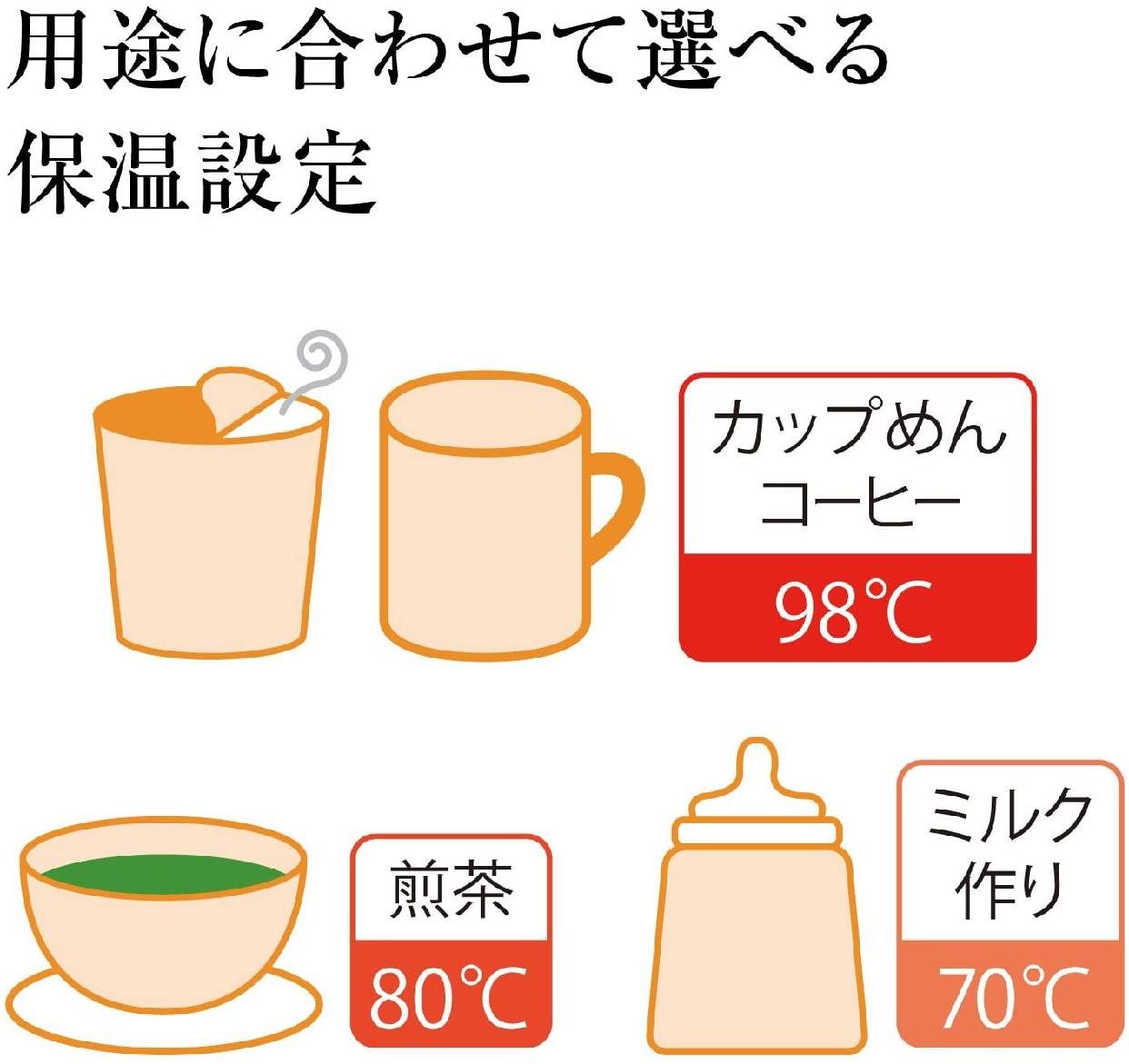 象印(ぞうじるし)マイコン沸とうVE電気まほうびん 優湯生(ゆうとうせい)/CV-GA30の商品画像6