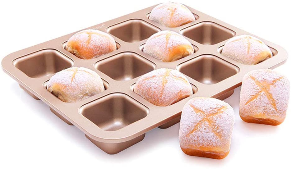 CHEFMADE(シェフメイド)マフィン型 12ヶ取 シャンパンゴールドの商品画像
