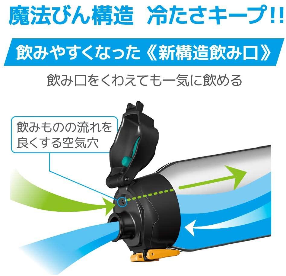 THERMOS(サーモス) 真空断熱スポーツボトル FHT-1001F ブラックオレンジの商品画像6