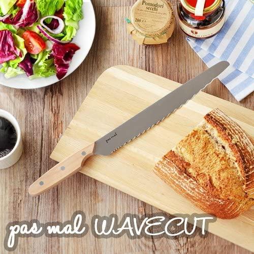 貝印(かいじるし)ブレッドナイフ pas mal WAVECUT (パン切り包丁) AB5630-naire シルバーの商品画像4