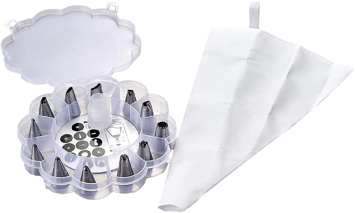 パール金属(PEARL) クリーム 絞り袋 口金12個セット ケース付 D-3101の商品画像