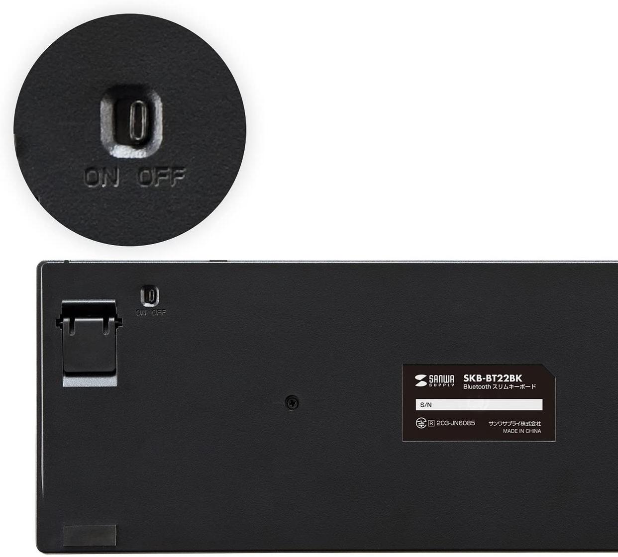 SANWA SUPPLY(サンワサプライ) Bluetoothスリムキーボード SKB-BT22BKの商品画像6
