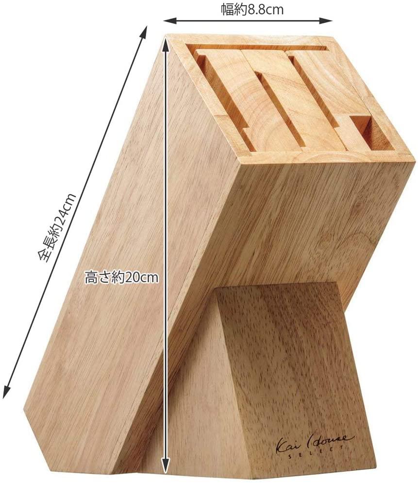 貝印(KAI) KHS 木製ナイフブロック ブラウン AP5321の商品画像6