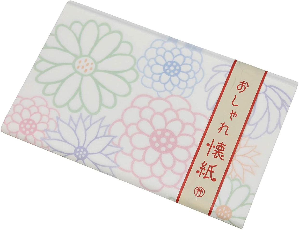 クロチク おしゃれ懐紙 菊 白の商品画像2