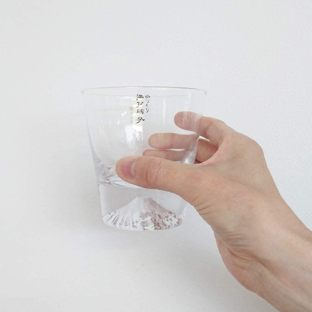 江戸硝子(エドガラス) 富士山グラス ロックグラス 270ml  TG15-015-Rの商品画像7