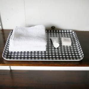 fog linen work(フォグリネンワーク)リネンコーティングトレイL ネイビーホワイトチェックの商品画像3