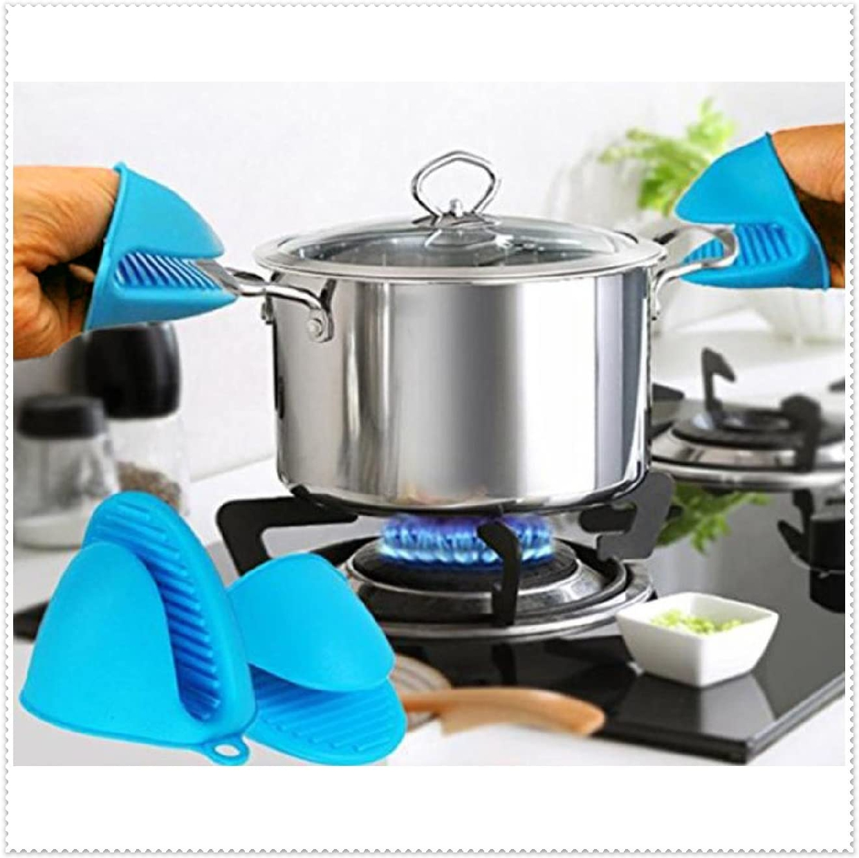 Fumemo(フメモ) 鍋つかみ 水色 2個セットの商品画像2