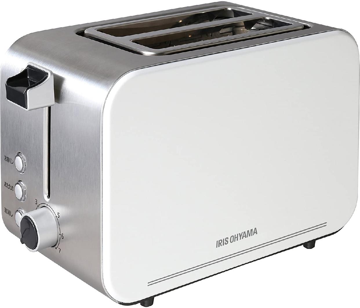 IRIS OHYAMA(アイリスオーヤマ) ポップアップトースター 白 IPT-850-Wの商品画像