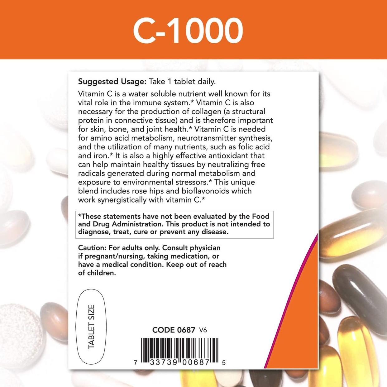 Now Foods(ナウフーズ) C-1000+ローズヒップ&バイオフラボノイドの商品画像3