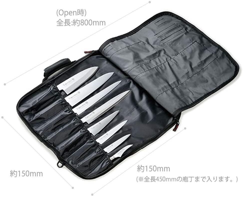 藤次郎(TOJIRO) ソフトナイフバッグ F-355 ブラックの商品画像3