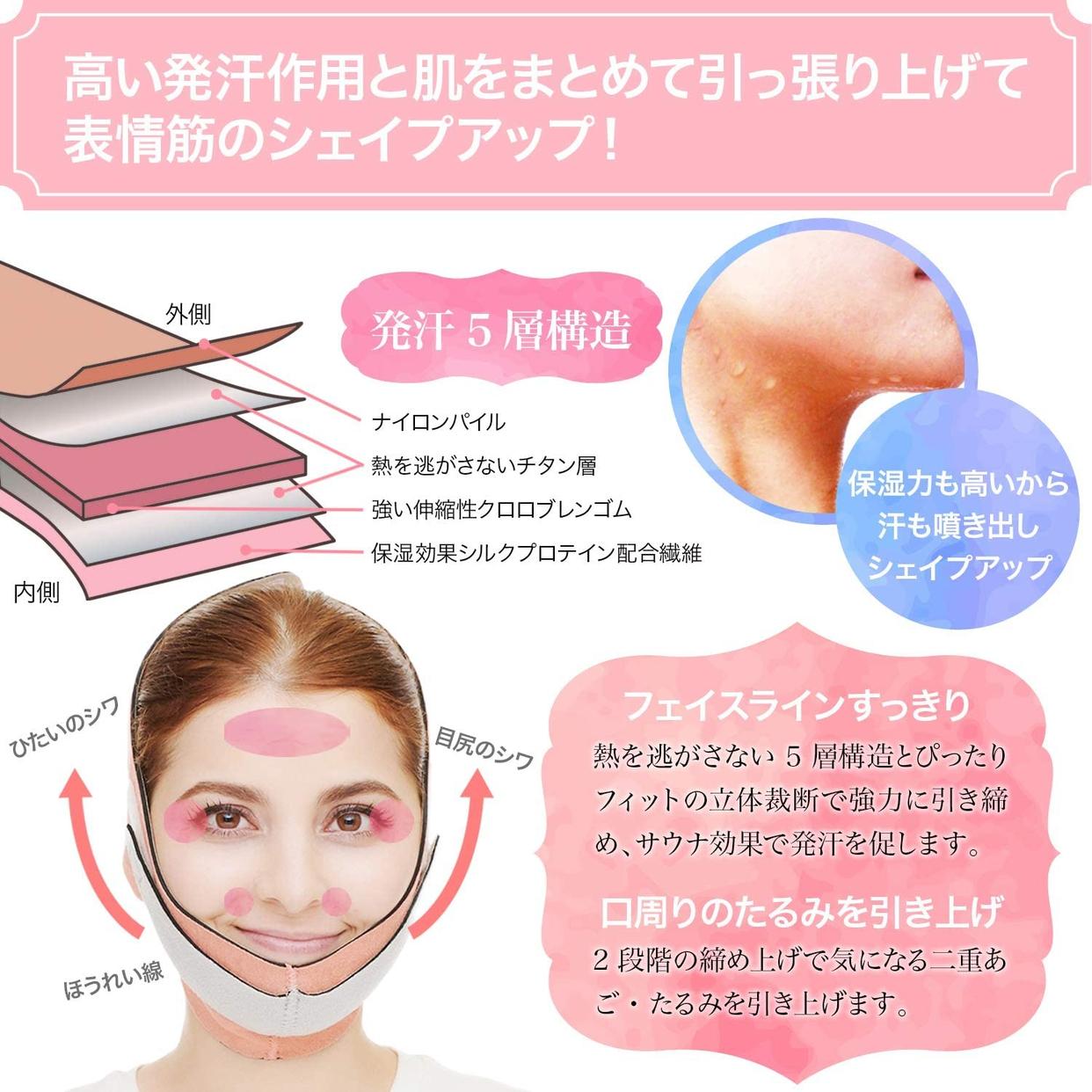 PLEASINGSAN(プリージングサン) 【改良版】 小顔 矯正ベルトの商品画像6