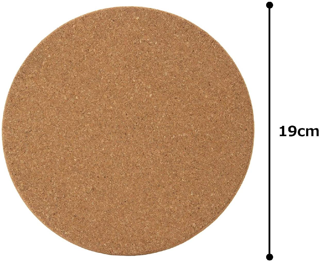 MARULABO(マルラボ) コルクマット ブラウン 10個セット T-693650の商品画像4