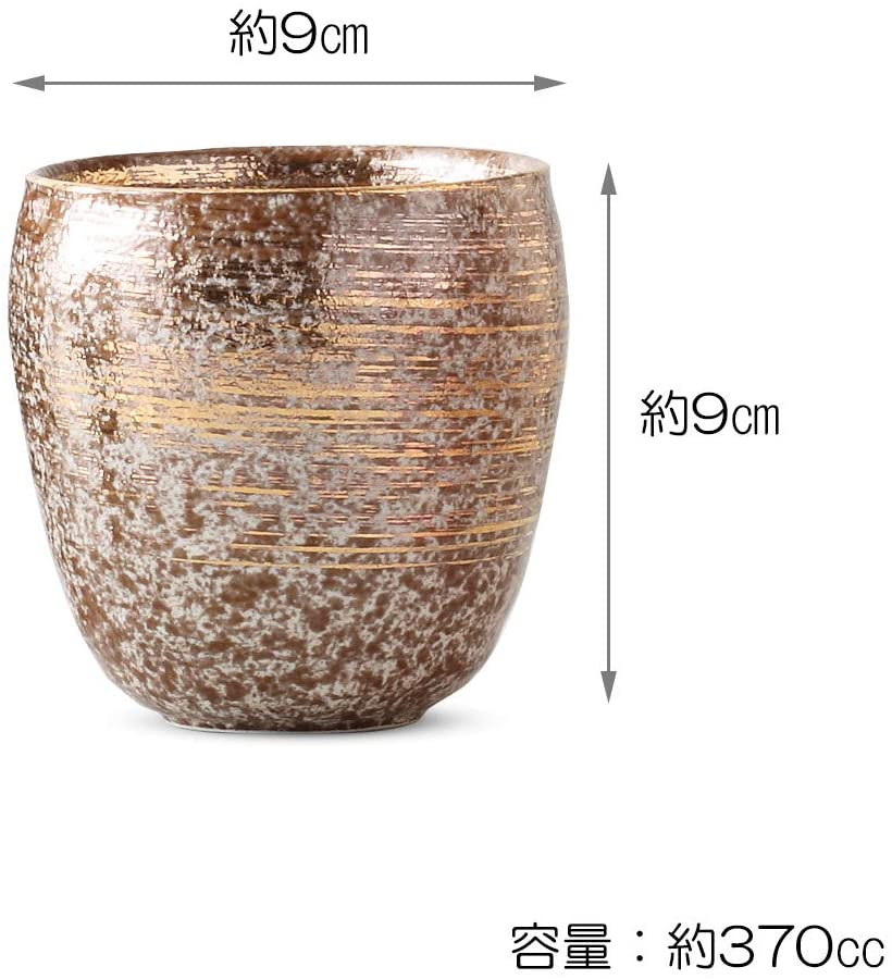 陶悦窯(とうえつがま)焼酎カップ  370cc 雅刷毛(金)の商品画像2