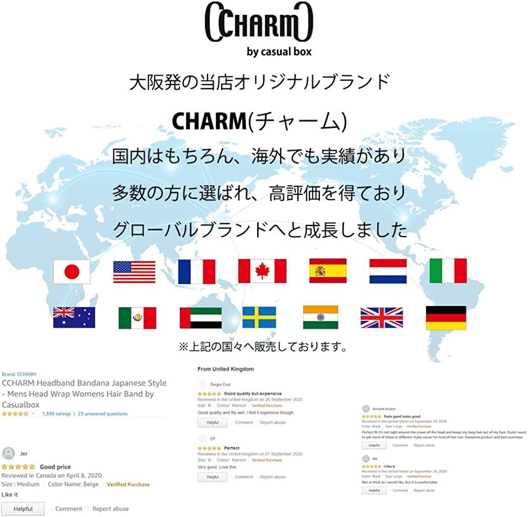 charm(チャーム) ビスコース バンダナ ターバン ヘアバンド 無地の商品画像8