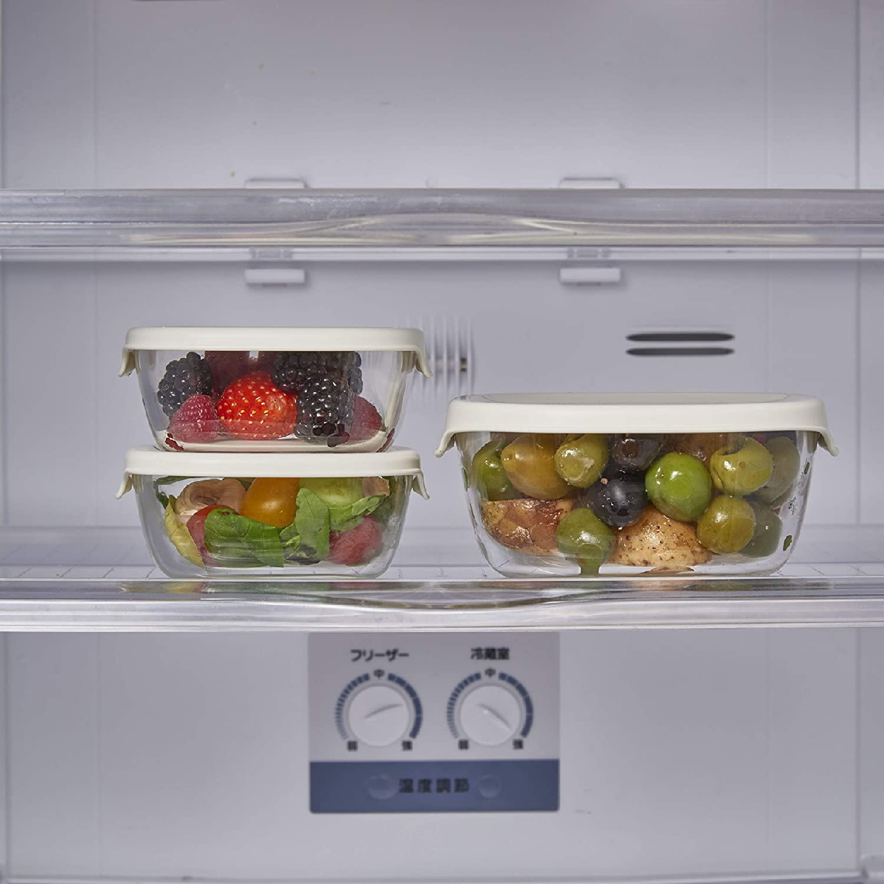 HARIO(ハリオ) 耐熱ガラス製保存容器セット 8個入り KST-5604-OWの商品画像6