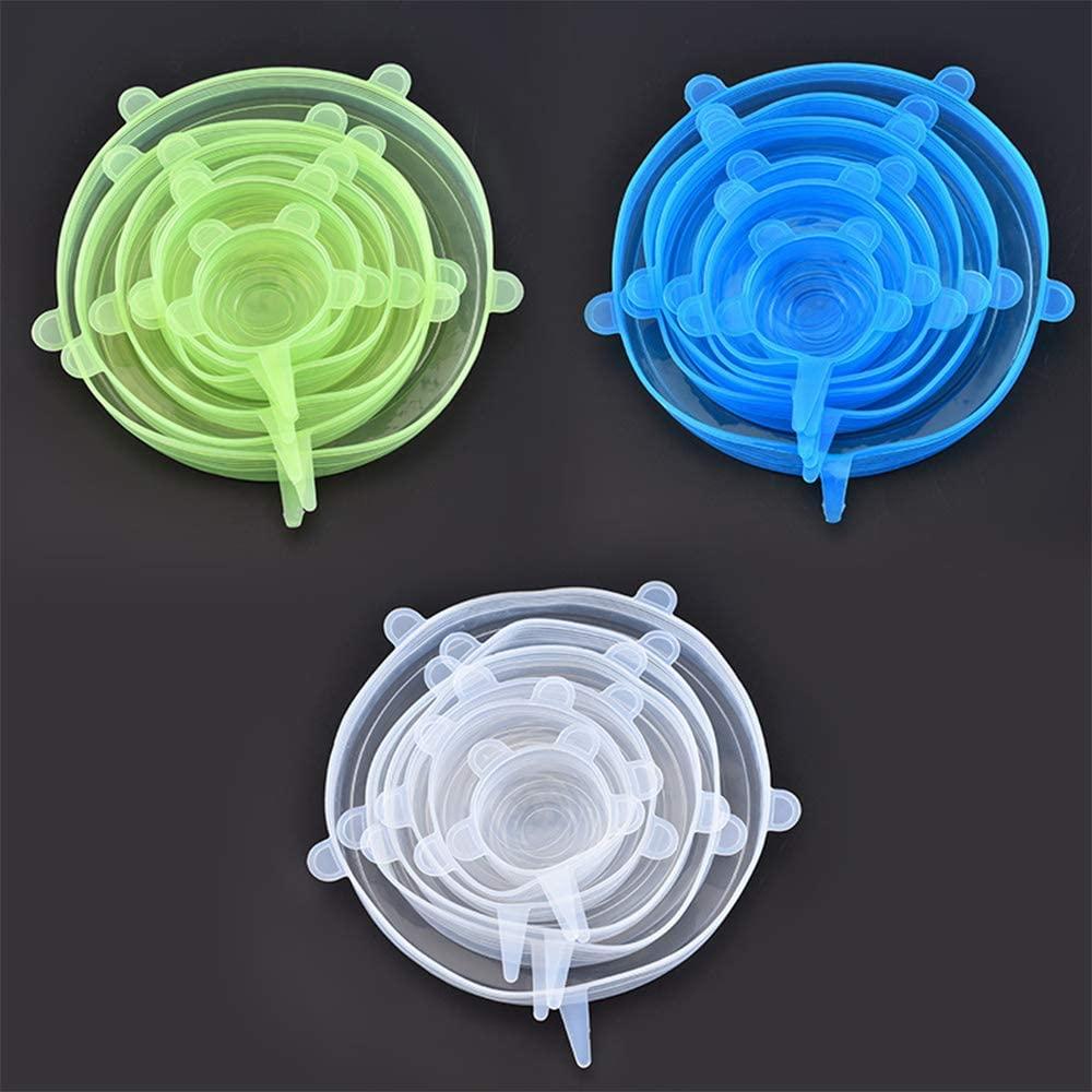 Hats(ハッツ)6ピースシリコーンストレッチふた ブルーの商品画像3