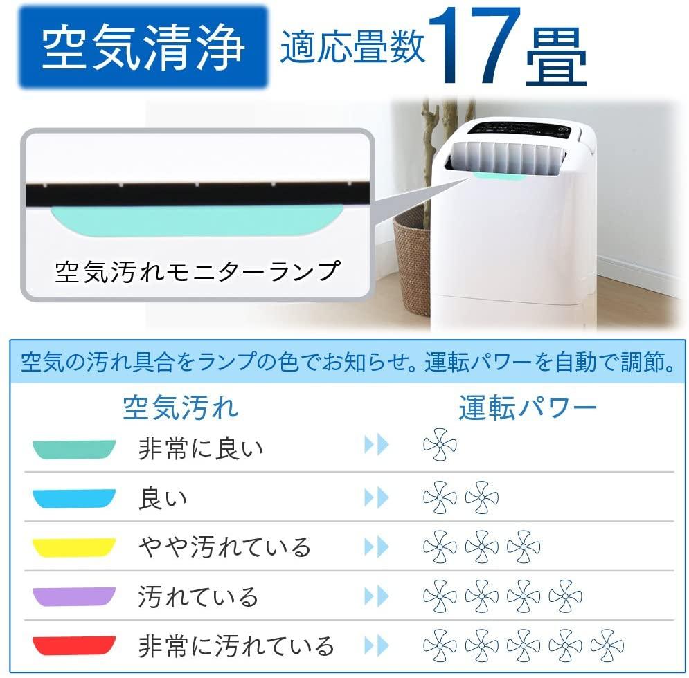 IRIS OHYAMA(アイリスオーヤマ) 空気清浄機能付除湿機 DCE-120の商品画像4
