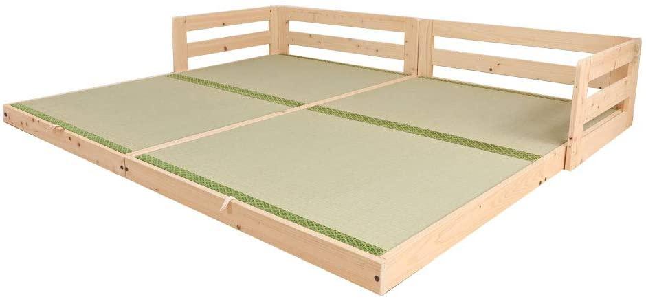 源ベッド ひのきロータイプベッドの商品画像