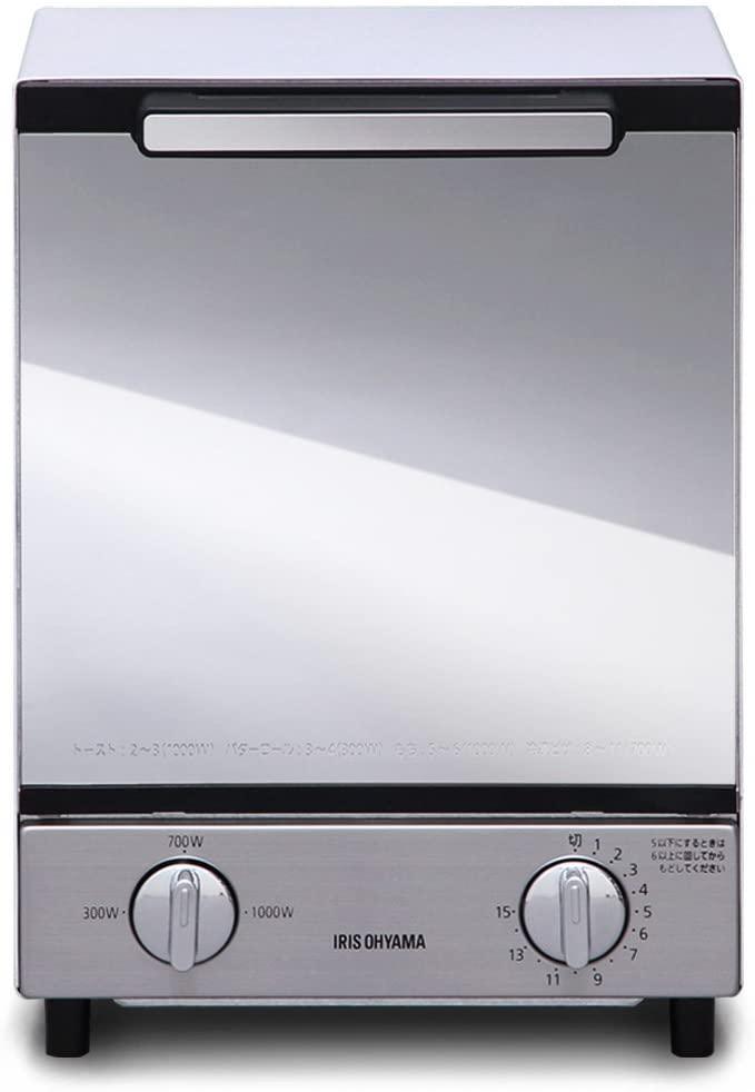 IRIS OHYAMA(アイリスオーヤマ)ミラーオーブントースター縦型 MOT-012の商品画像