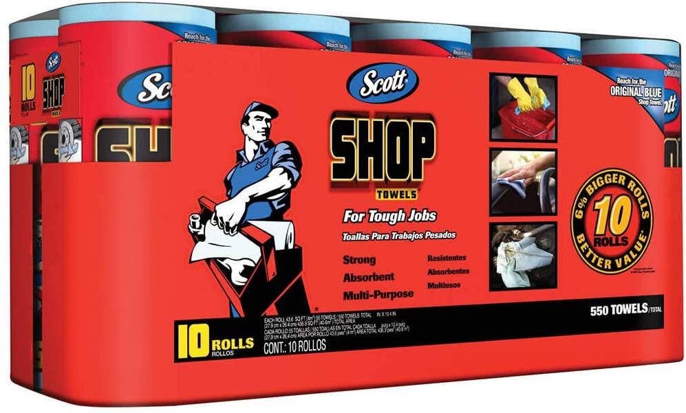 Scott(スコット) ショップタオル ブルーロール 55枚×10ロールの商品画像4