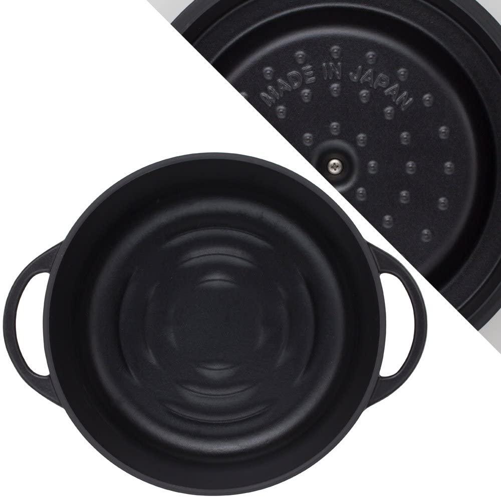 VERMICULAR(バーミキュラ) オーブンポットラウンド26cm マットブラック SUMI(炭)の商品画像3