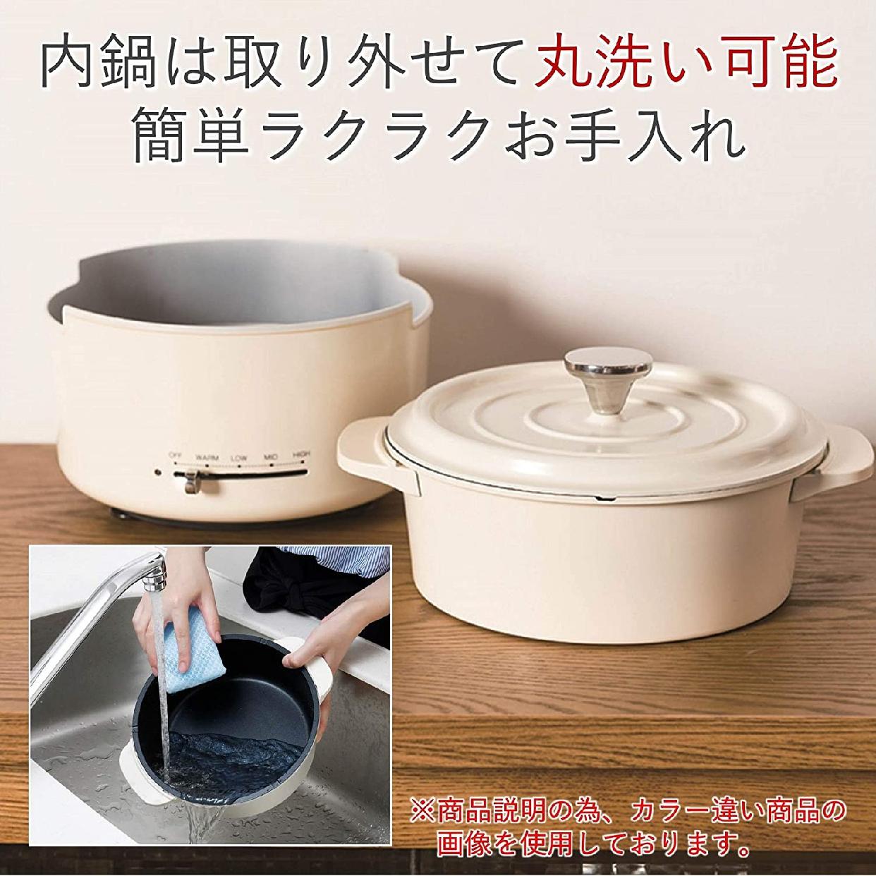 山善(YAMAZEN) 電気グリル鍋 EGD-D650(MB)の商品画像6
