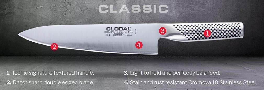 GLOBAL(グローバル)ベーグル/サンドイッチナイフ 16cm GS-61 シルバーの商品画像2