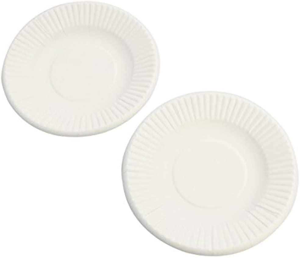 ペーパーウェア 使い捨て食器 ホワイト 9cm T4S 100枚入 2個セットの商品画像2
