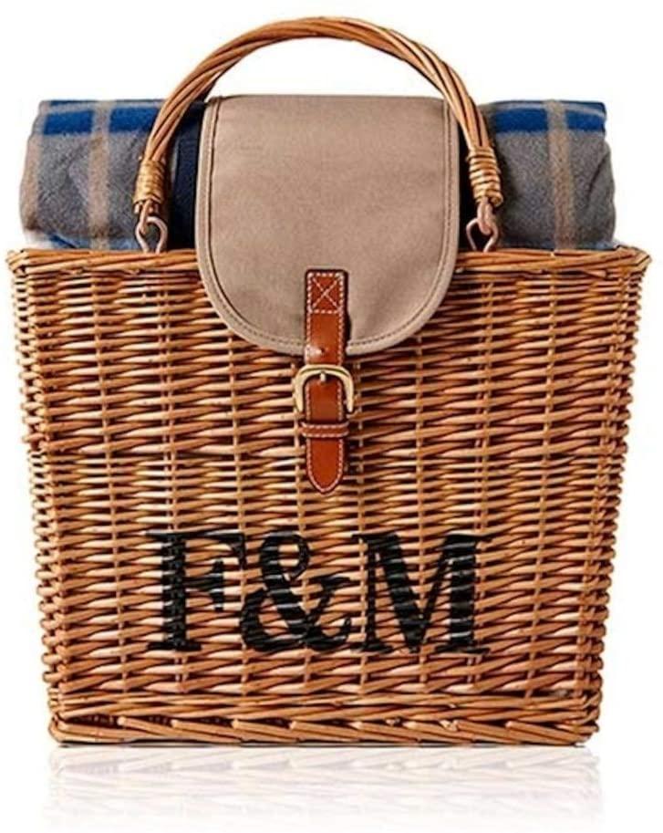 Fortnum & Mason(フォートナム&メイソン)ピクニックラグ付き保冷バスケット ブラウンの商品画像