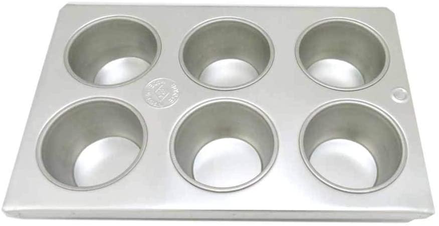 TKG(ティーケージー)ブリキ マフィン型  #10カップ 6ヶ付 WMH-23 シルバーの商品画像2