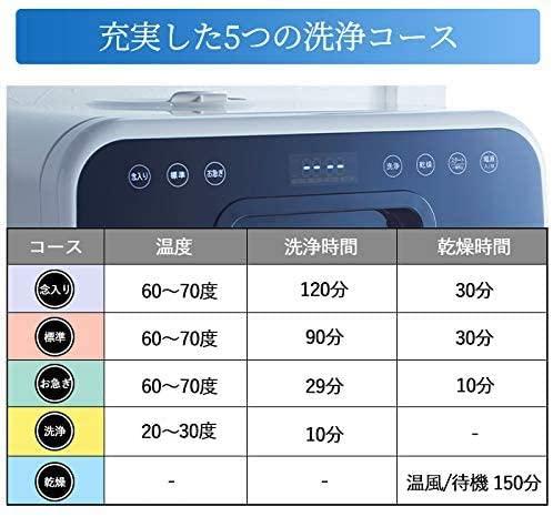 iimono117(イイモノイイナ) 食器洗い乾燥機 2段式 ホワイト EXの商品画像6