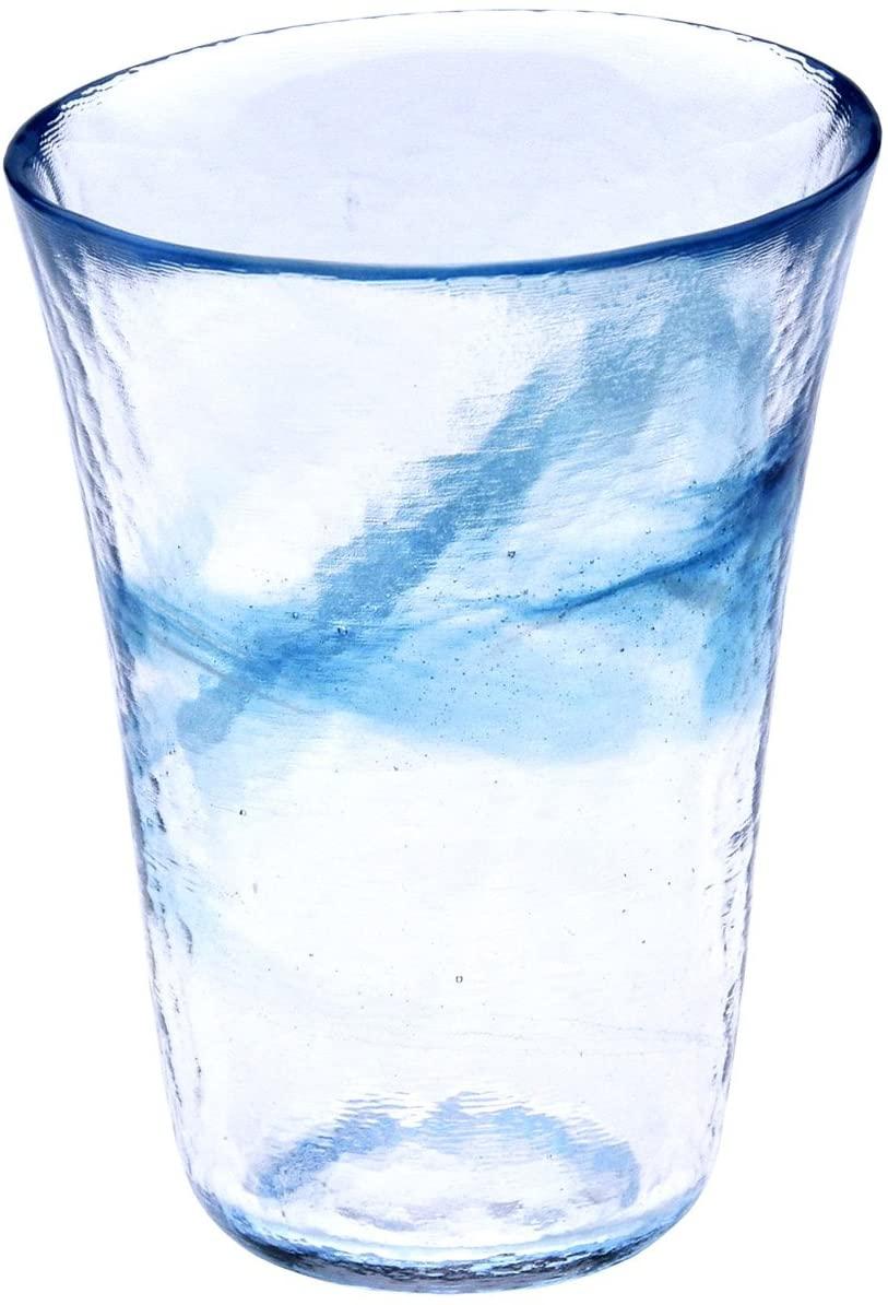 月夜野工房(つきやのこうぼう)我が家の一杯 焼酎グラス L 青 T1-0239-Bの商品画像
