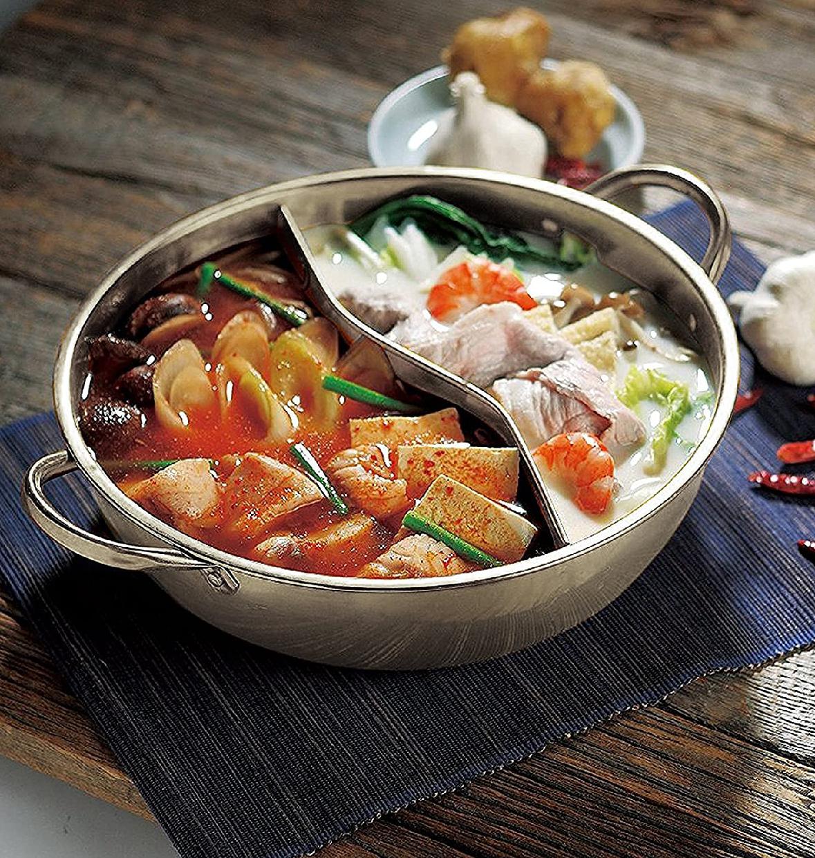 エムワールド 2食鍋 ステンレス 28cmの商品画像3
